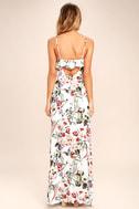 Bloom On Ivory Floral Print Maxi Dress 4