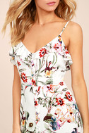 Bloom On Ivory Floral Print Maxi Dress 5