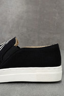 Seychelles Sunshine Black Canvas Embroidered Slip-On Sneakers 7