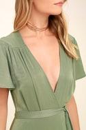 City of Stars Sage Green Maxi Dress 5