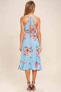 My Finest Flower Periwinkle Blue Floral Print Wrap Dress 4