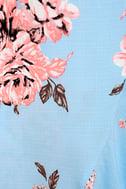 My Finest Flower Periwinkle Blue Floral Print Wrap Dress 6