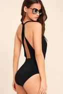 Get it Right Black Halter One Piece Swimsuit 3