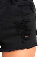Echo Park Black Distressed Denim Shorts 6
