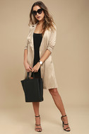 Take on the World Beige Suede Trench Coat 2