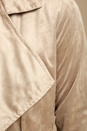 Take on the World Beige Suede Trench Coat 6
