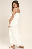 Moon River Now and Always Ivory Lace Maxi Dress 3