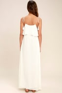 Moon River Now and Always Ivory Lace Maxi Dress 4