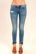 Blank NYC Skinny Classique Medium Wash Distressed Skinny Jeans 2