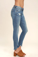 Blank NYC Skinny Classique Medium Wash Distressed Skinny Jeans 3