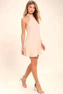 Any Sway, Shape, Or Form Blush Pink Lace Halter Dress 2