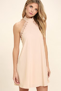 Any Sway, Shape, Or Form Blush Pink Lace Halter Dress 3