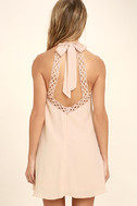 Any Sway, Shape, Or Form Blush Pink Lace Halter Dress 4