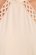 Any Sway, Shape, Or Form Blush Pink Lace Halter Dress 6