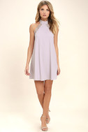 Any Sway, Shape, Or Form Lavender Lace Halter Dress 2