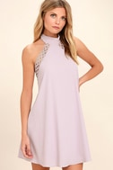 Any Sway, Shape, Or Form Lavender Lace Halter Dress 3