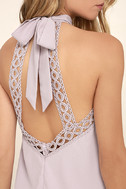 Any Sway, Shape, Or Form Lavender Lace Halter Dress 5