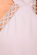 Any Sway, Shape, Or Form Lavender Lace Halter Dress 6