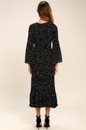 I. Madeline Dashing Diva Black Print Midi Dress 4