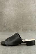 Steve Madden Briele Black Leather Slide Sandals 2