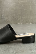 Steve Madden Briele Black Leather Slide Sandals 7