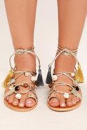 Steve Madden Rambel Metallic Multi Leather Lace-Up Sandals 2