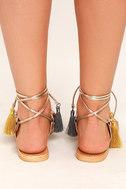 Steve Madden Rambel Metallic Multi Leather Lace-Up Sandals 4