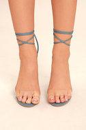 Maricela Denim Lace-Up Heels 2