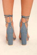 Maricela Denim Lace-Up Heels 4