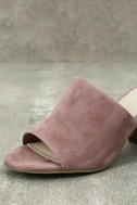 Seychelles Commute Rose Suede Leather Peep-Toe Mules 6