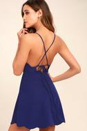 Play On Curves Royal Blue Backless Dress 1