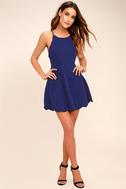 Play On Curves Royal Blue Backless Dress 2