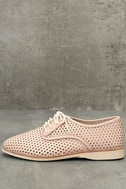 Rollie Derby Punch Chalk Pink Perforated Leather Oxfords 2