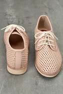 Rollie Derby Punch Chalk Pink Perforated Leather Oxfords 3