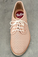 Rollie Derby Punch Chalk Pink Perforated Leather Oxfords 5