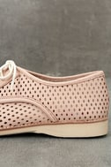 Rollie Derby Punch Chalk Pink Perforated Leather Oxfords 7