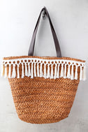 San Diego Hat Co. Phillipa Terra Cotta Woven Tote 2