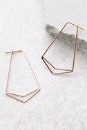 Geometry 101 Rose Gold Earrings 3