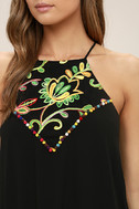 Piece of Caicos Black Embroidered Shift Dress 5