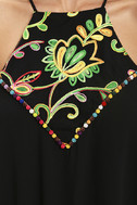 Piece of Caicos Black Embroidered Shift Dress 6