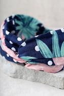 Strawberry Delight Navy Blue Print Headband 3