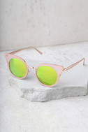 Pretty Sight Pink Mirrored Sunglasses 2