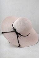 My Paradise Blush Floppy Straw Hat 3