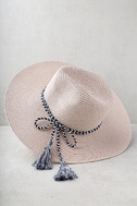 New Me Blush Floppy Straw Hat 3
