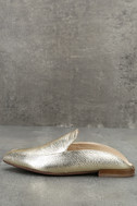 Chinese Laundry Capri Gold Leather Loafer Slides 2