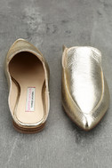 Chinese Laundry Capri Gold Leather Loafer Slides 3