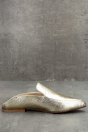 Chinese Laundry Capri Gold Leather Loafer Slides 4