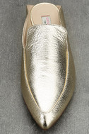 Chinese Laundry Capri Gold Leather Loafer Slides 5