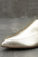 Chinese Laundry Capri Gold Leather Loafer Slides 6