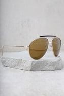 Skyward Gold Mirrored Aviator Sunglasses 2